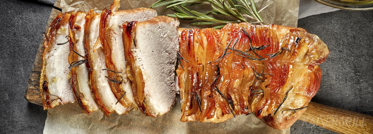 Свиная корейка в беконе